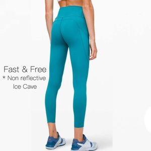 NWOT Lululemon Fast & Free 7/8 tights I've Cave